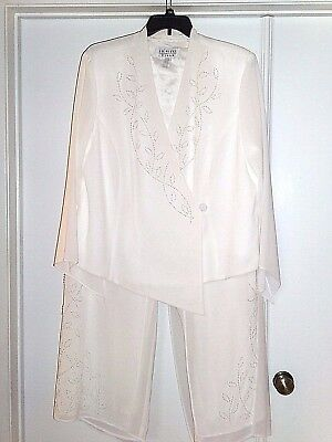 WEDDING DRESS SUIT PLUS SIZE 22 NWOT Anniversary Mother of Bride Christmas Ivory