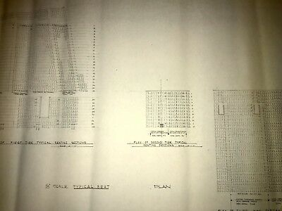 Veterans Stadium Blueprint -Philadelphia Eagles-Phillies -Stadium Seat Blueprint