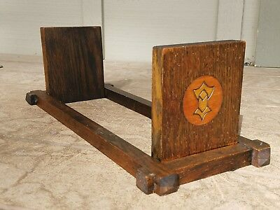 LAKESIDE Arts & Crafts Tabletop Bookrack MISSION OAK Stickley Era Antique.