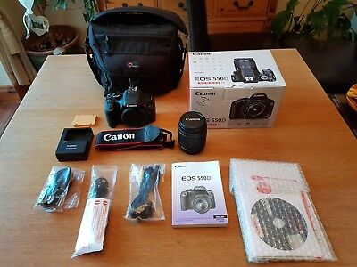 Canon EOS 550D 18.0MP Digital SLR Camera - Black (Kit w/ EF-S IS 18-55mm and EF