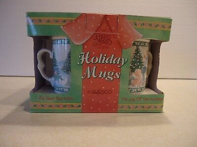 1995 Enesco Precious Moments NEW IN BOX (4 CUPS) Holiday Mugs, cups