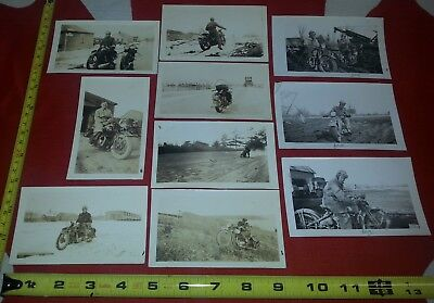 Post WW2 1930s Original Lot of Wartime Motorcycles Harley Triumph Bikes
