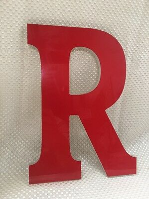 "Letter R Red Large ACRYLIC ADVERTISING SIGN 12.5"" Tall~Decoration Initials~L@@K~"