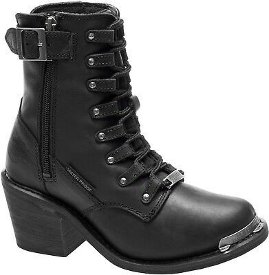 Harley-Davidson Women's Erica Waterproof Black Leather Motorcycle Boot D87125