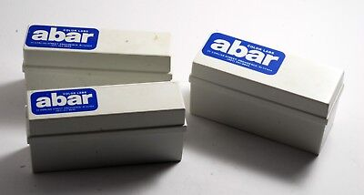 Vintage ABAR Photo Lab Providence 35 mm Slide Storage Boxes or 2x2 Coin Holders