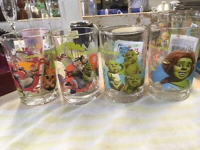 4 Shrek The Third Limited Edition McDonald's Collectible Glasses 2007 #2