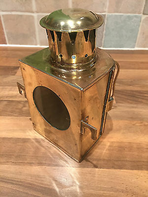 Antique Original Brass Ships Binnacle Light Lamp Nautical Maritime Marine Boat