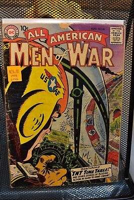 All American Men of War #60 DC Golden Age Comics 1958 World War II WWII