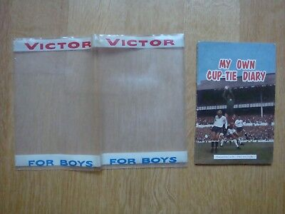 VICTOR COMIC FREE GIFT  CUP TIE DIARY from issue #362 1968 (comic NOT included)