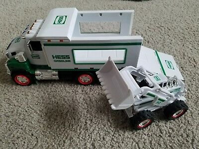 2008 Hess Truck and front loader - NO box - working lights, sounds and movement.
