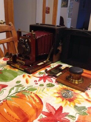 Rare Antique Century Folding Camera Obirg Camera Co. Wood Parts