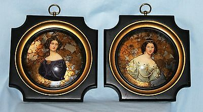 Pair Vintage Wood Picture Art Frames Victorian Portraits E.A. Riba Co.