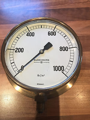 Vintage Brass Ships Engine Room Gauge Budenberg Maritime Marine Nautical Boat