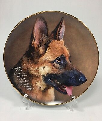 Danbury Mint Heart Of Gold Cherished German Shepherds Collector Plate