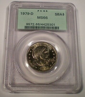 1979 D PCGS MS66 OLD GREEN HOLDER Susan B Anthony Dollar