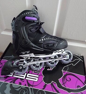 SFR RX23-2 Womens Inline Skates / Rollerblades Black and Purple