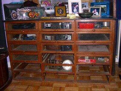 OFFERS! storage organizer pull drawers vintage glass and wood as is