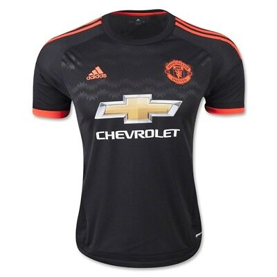 ADIDAS PERFORMANCE MANCHESTER UNITED 2015/16 OFFICIAL 3rd KIT BOYS SHIRT