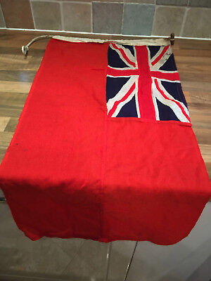 Vintage Red Ensign Flag Sewn Panels Maritime Marine Nautical Boat