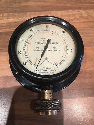 Vintage Ships Brass Painted Engine Room Gauge Maritime Marine Nautical Boat