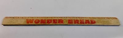 Vintage Wonder Bread Advertising 12 Inch Wooden Ruler - FREE SHIPPING
