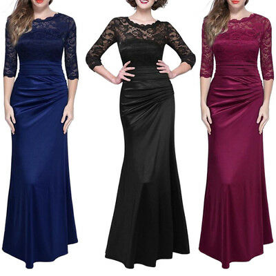SPECIAL OCCASION WOMAN Evening Gown Dress Formal Long Sleeve Lace ...