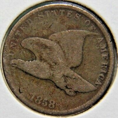 1858 1C Small Letters Flying Eagle Cent - Lot # PFE 104