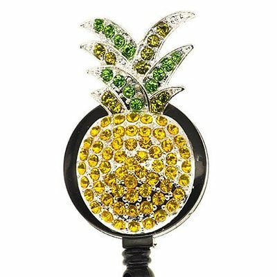 Pineapple ID Badge Reel - SassyBadge  - Summer Name Badge Holder