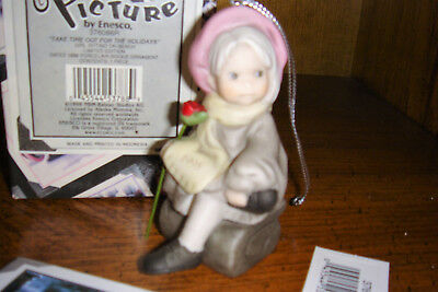 "Pretty As A Picture Kim Anderson ""take Time For Holidays Girl On Bench Ornament"