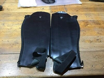 Black Saddle Craft Leather Gaiters Width 35cms, Lenght 47cms