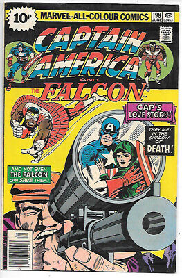 CAPTAIN AMERICA #198 (1976, vf+ 8.5) Jack Kirby - guides at $11.00/£8.00