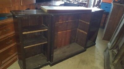 Edwardian Stained Pine Breakfront Bookcase