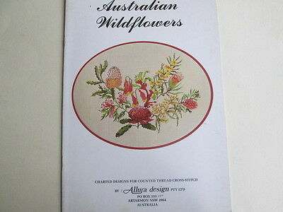 Allura Designs cross stitch charts Australian Wildflowers