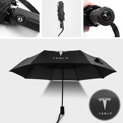Automatic Folding Umbrella Rain Quality Windproof UV Fit For  Tesla MODEL S X
