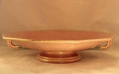 "Vintage Roseville 12"" TUSCANY Large Footed Console Bowl USA Art Pottery"