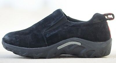 Black Burnished Suede Slip On MERRELL Youth Size 3 Mini Jungle Moc Kids Shoes