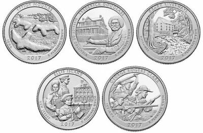 2017 National Park Quarters - Complete 10 Quarter D&P Set - US Mint IN HAND!!!