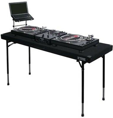 Odyssey Table CTBC2060 Carpeted Portable Pro DJ Work Table W/ Adjustable Legs