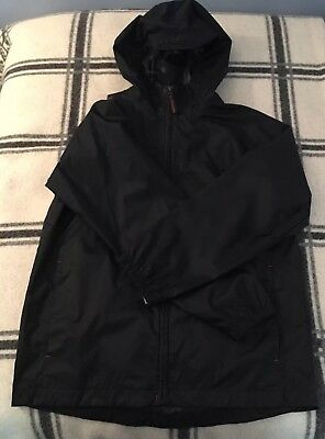 Lands'End Kids~windbreaker/rain jacket~ Navy Blue~size Medium (10-12)