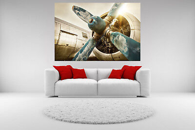 DC-3 Airplane Vintage Canvas Giclee Print Picture Unframed Home Decor Wall Art