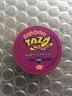 """The Simpsons Tazos 1996 Rare Variation Bart With Basketball Number 170 RARE"""""""