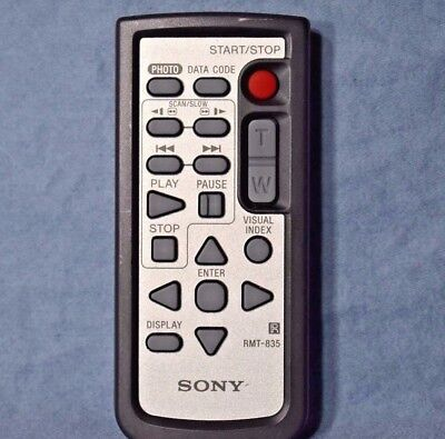 Genuine Sony DVD Remote RMT-835 for Handycam Wireless Authentic Replacement C