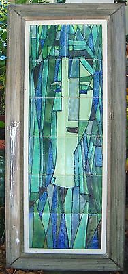 "Harris Strong Master Ceramist Mid Century Hand Painted Tiles Art. 43"" H x 19"" W"