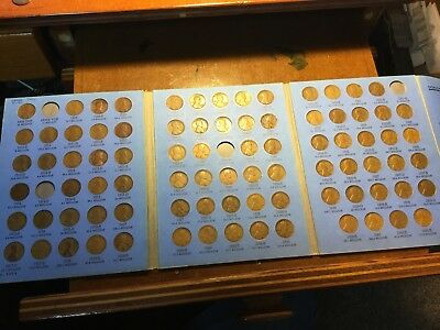 Lincoln Cent Folder 1909-1940 Missing 4: 1909s vdb, 1914d, 1924d, 1931s