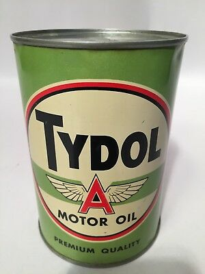 Tydol Flying A Tidewater 1 Quart Motor Oil Can Emptied Exc Look No Reserve