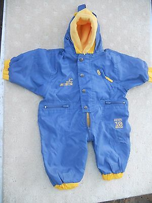 Baby Unisex Adams two layer all in one wind/rain/ snow suit fleece lined Size 00