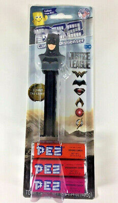 NEW PEZ Dispenser Justice League BATMAN with Candy Orange Strawberry Raspberry