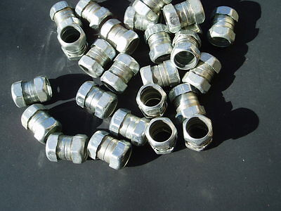 "Lot of 15 Fastenal 3//4/"" EMT Die Cast Zinc Compression Couplings NOS"