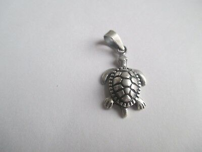Turtle Pendant...STERLING SILVER..Great Detail...New