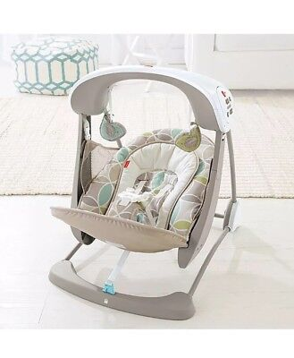Fisher Price Deluxe Portable SmartSwing Take Along Baby Infant Swing and Seat
